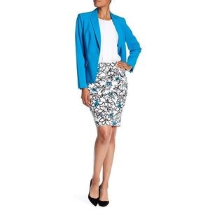 NWT Modern American Designer Floral Pencil Skirt